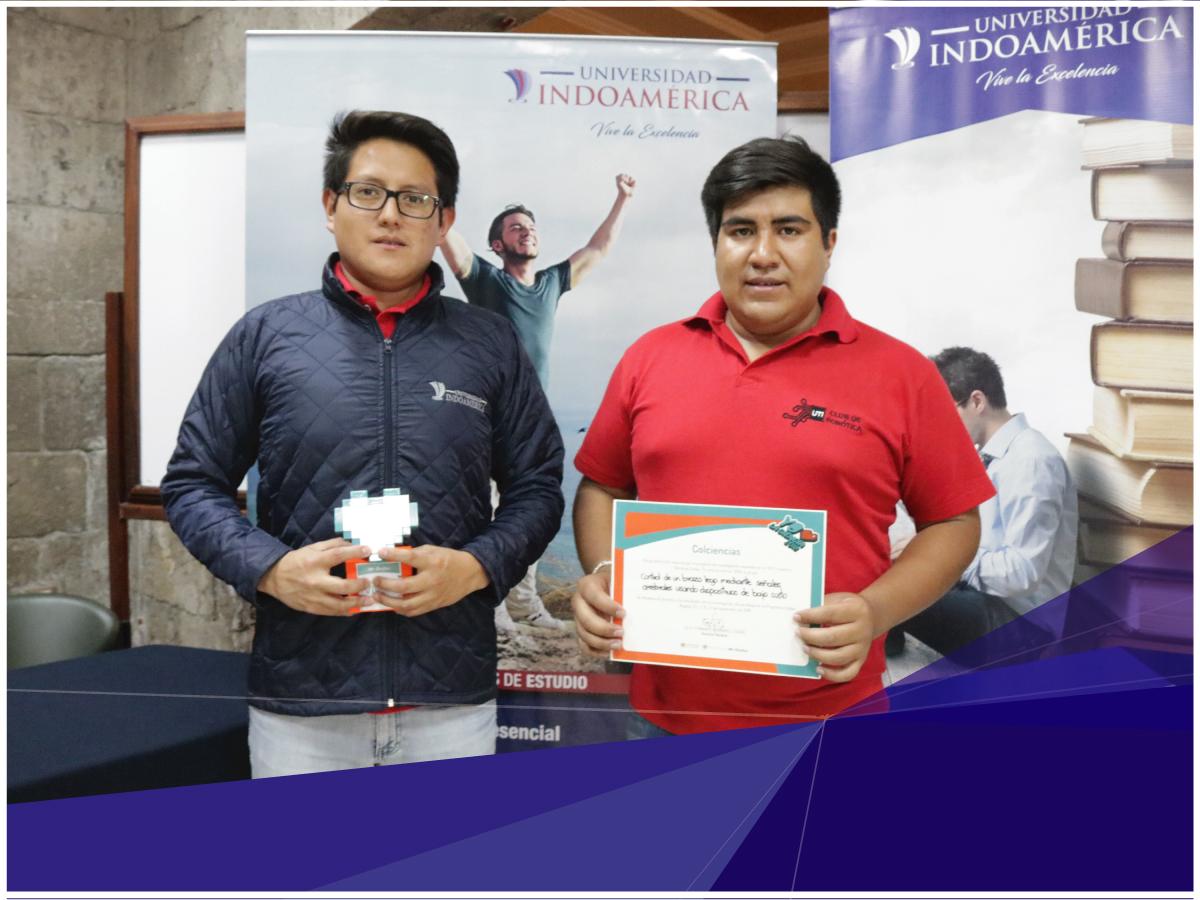 Club de Robótica de la Universidad Indoamérica recibió reconocimiento por el Día Internacional de la Juventud