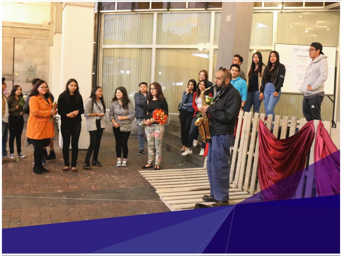 Estudiantes de Arquitectura de la Universidad Indoamérica comparten con la comunidad el buen uso del espacio público