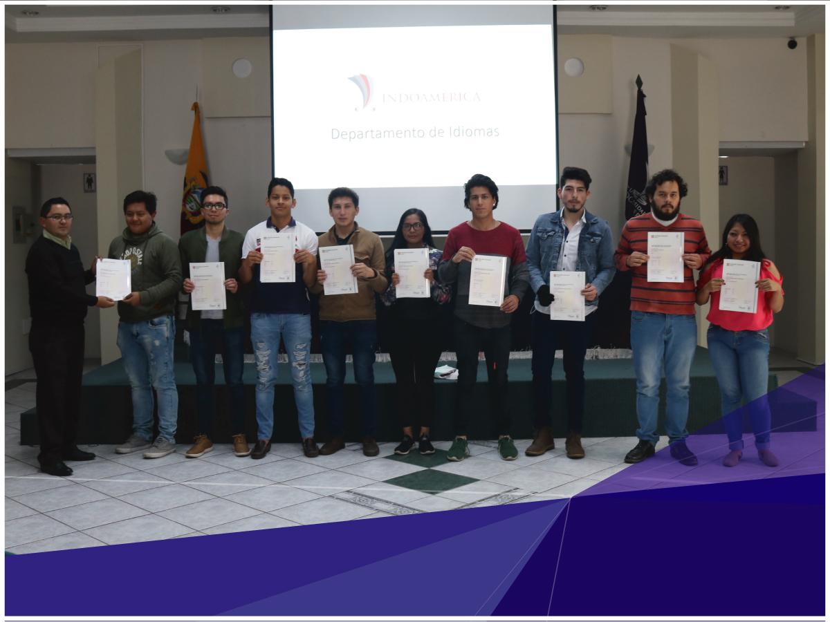 32 estudiantes de Indoamérica recibieron certificación avalada por la Universidad de Cambridge