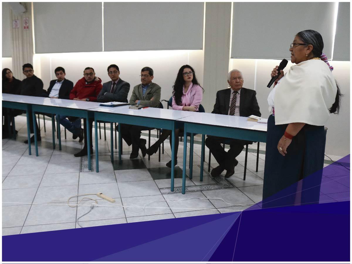 La Universidad Indoamérica organizó una charla sobre Administración de Justicia Indígena con la Dra. Nina Pacari