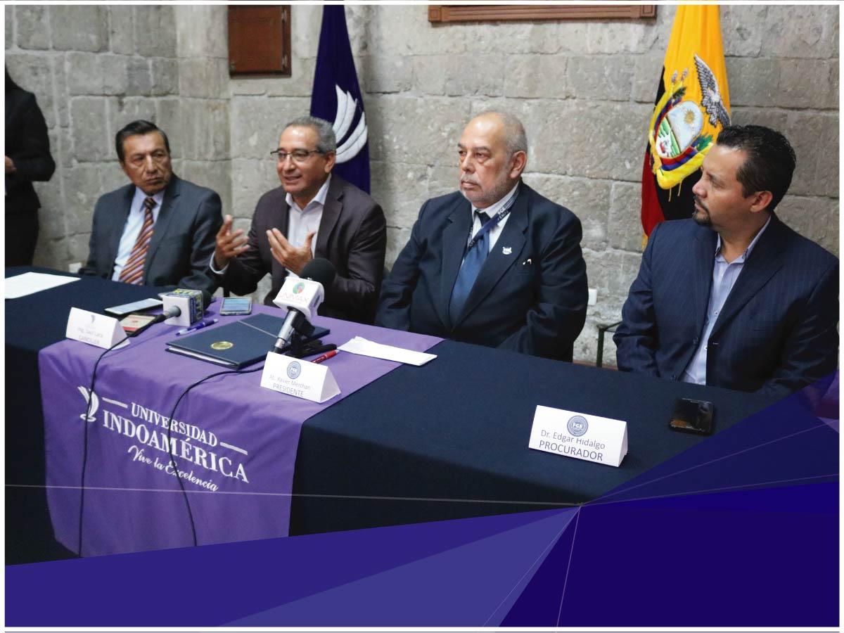 Universidad Indoamérica firma convenio de cooperación institucional con La Asociación de Funcionarios de la Fiscalía General del Estado
