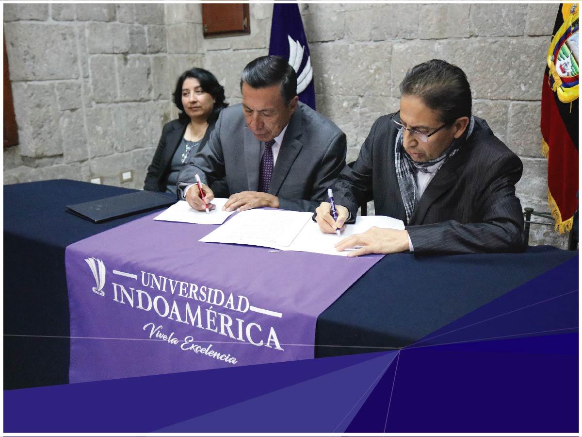 Indoamérica firmó convenio de prácticas preprofesionales con el Consejo de la Judicatura de Tungurahua