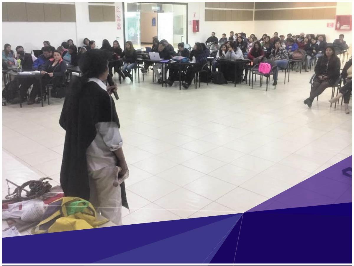 Estudiantes de maestría de la Universidad Indoamérica conocieron estudios interculturales de los Salasacas