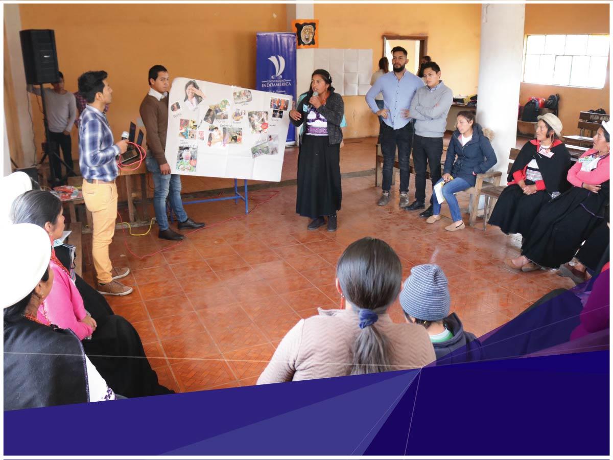 Indoamérica impulsa la identidad y la comercialización de artesanías en San Luis de Chibuleo