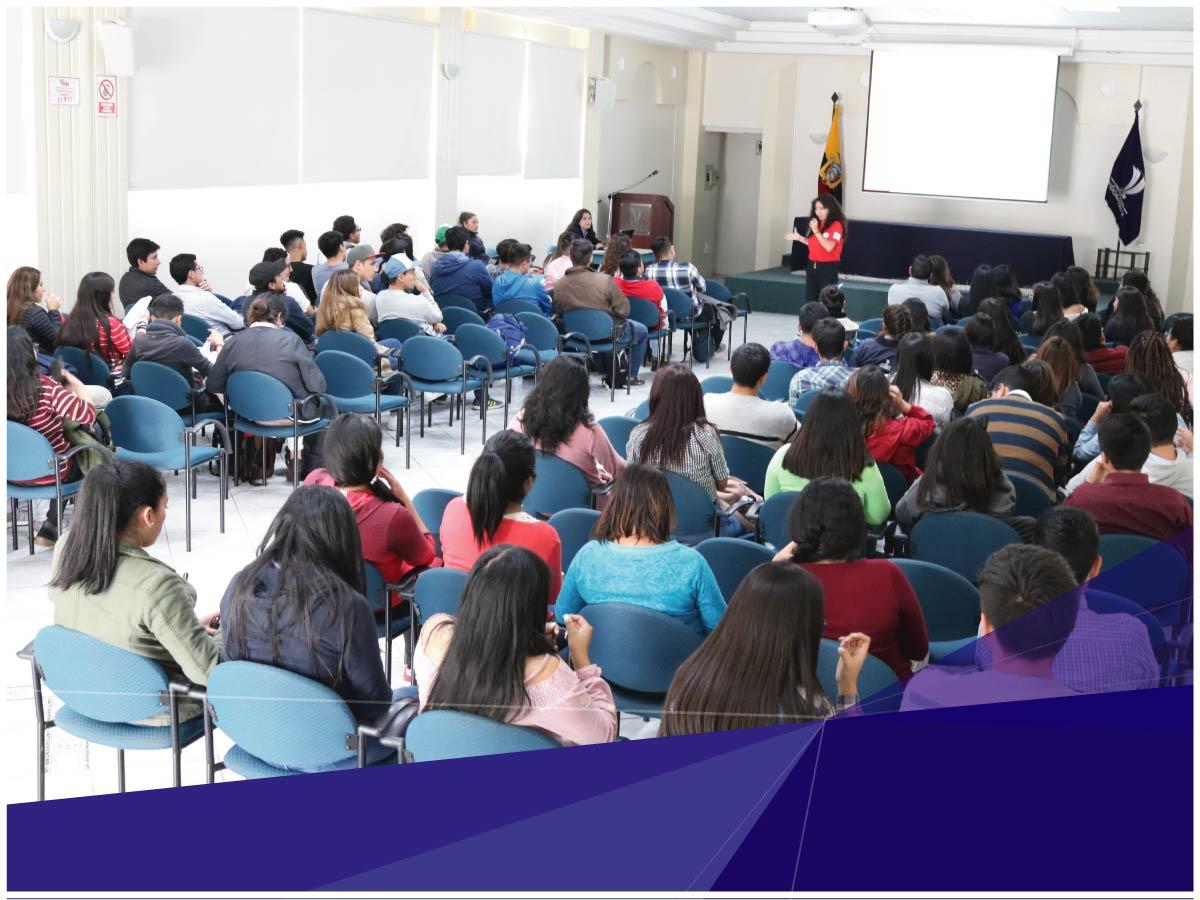 Universidad Indoamérica realiza charla preventiva del uso y consumo de sustancias a los estudiantes