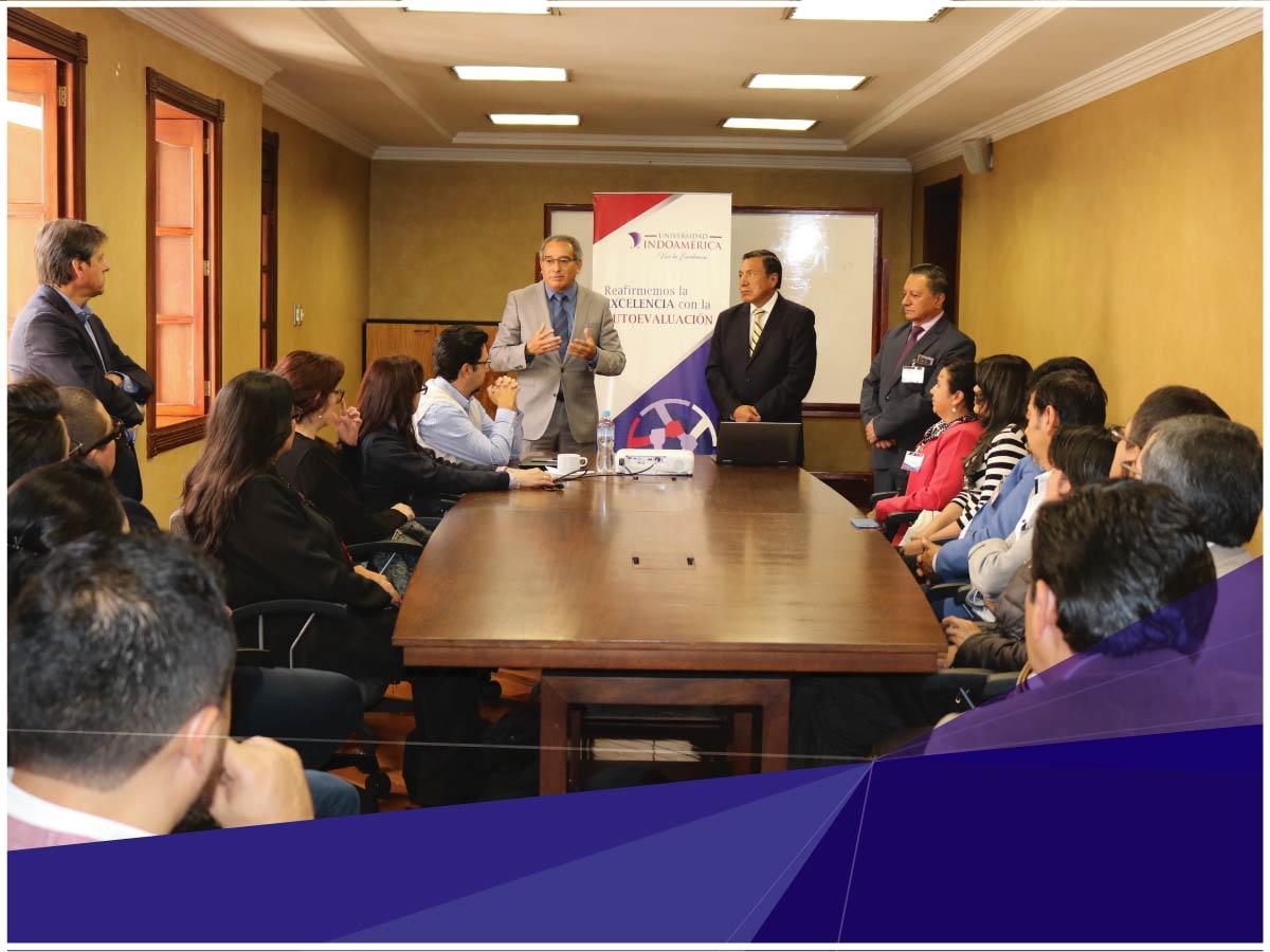 El proceso de Autoevaluación Interna de la Universidad Indoamérica continuará en la Sede Quito