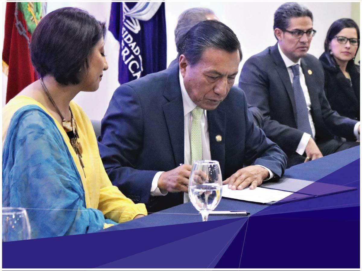 Universidad Indoamérica y la Secretaría de Derechos Humanos firman convenio para reforzar la formación preventiva
