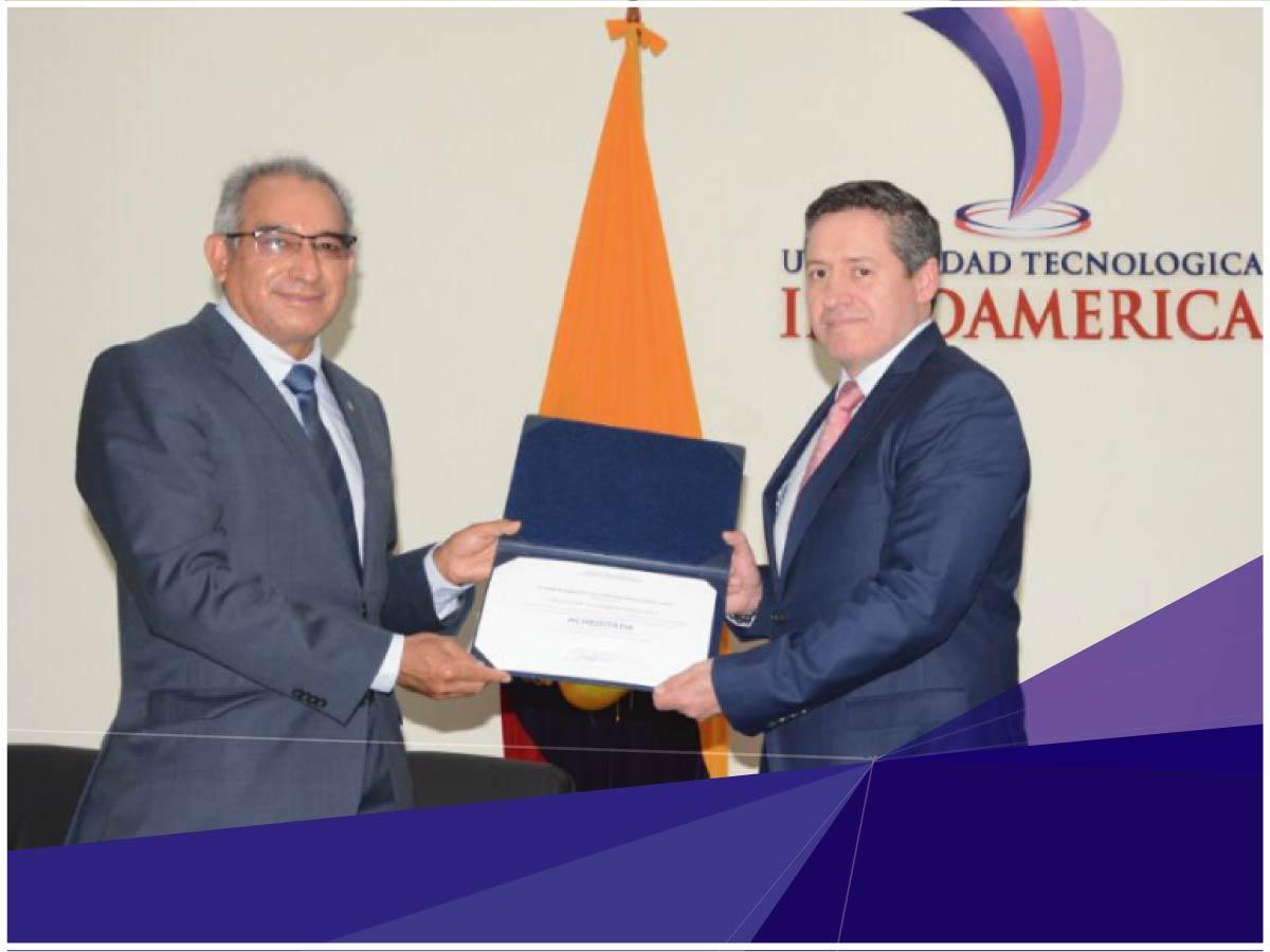 Universidad Indoamérica recibió el Certificado de la Acreditación