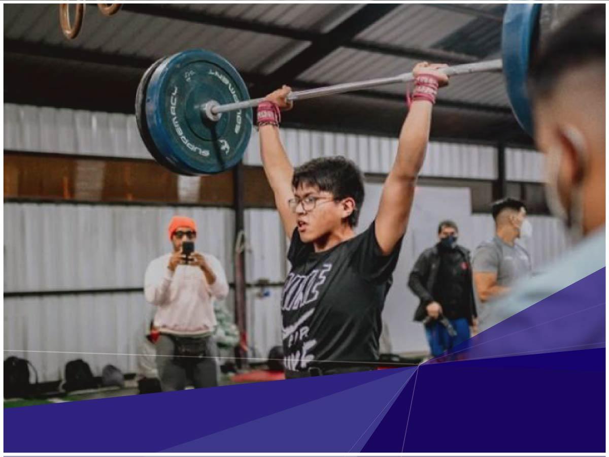 Indoamérica auspicia a un joven practicante de crossfit