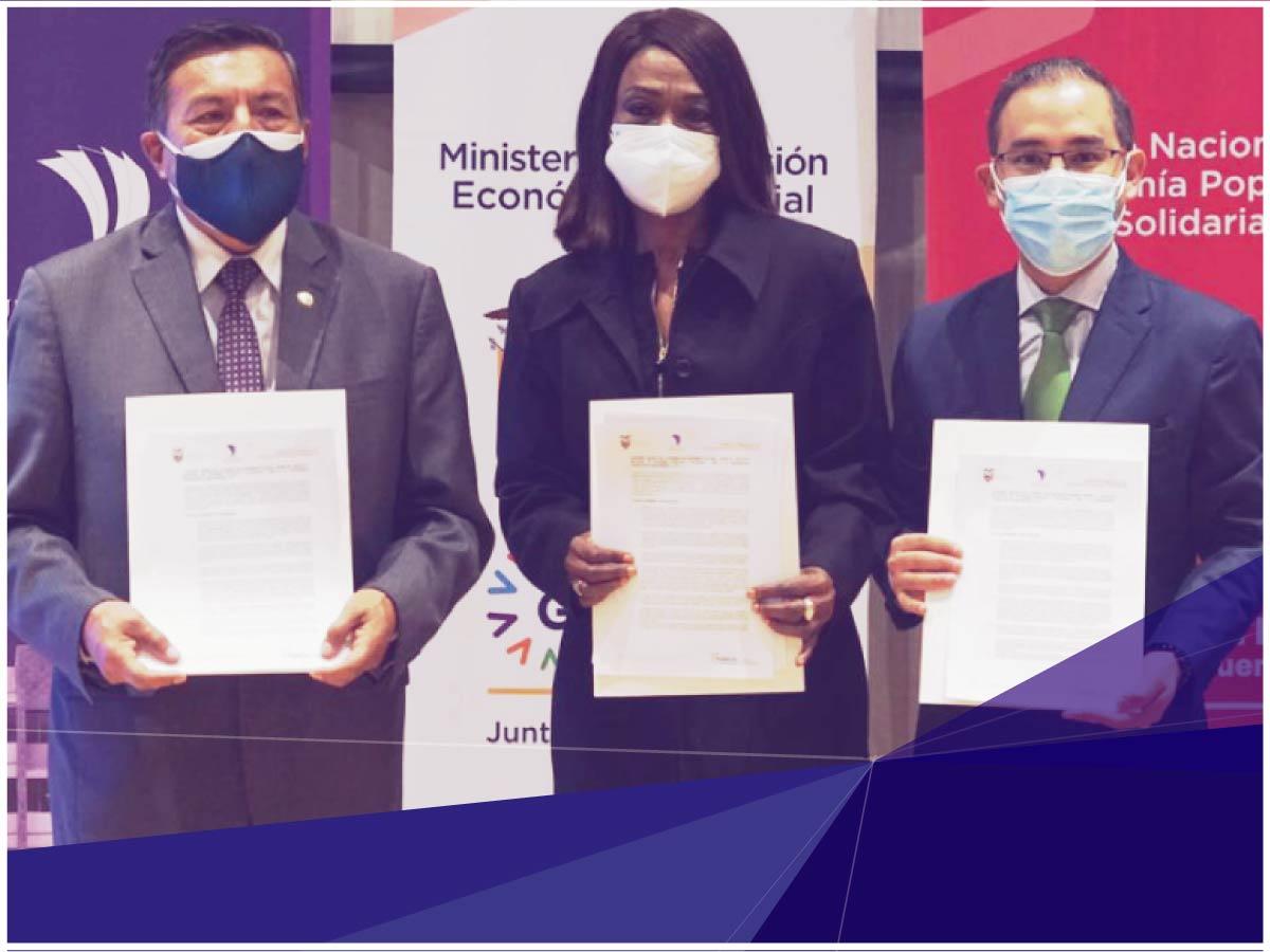"""Indoamérica firma convenio con el IEPS para el fortalecimiento del Proyecto """"EPS"""""""